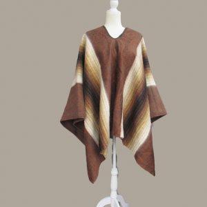 Alpaca wool rustic poncho