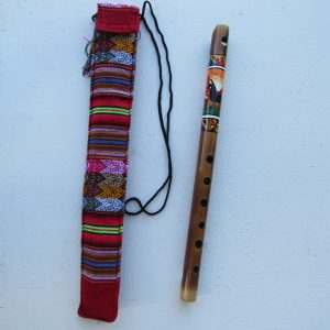 Traditional flute made by Urbano Huanca