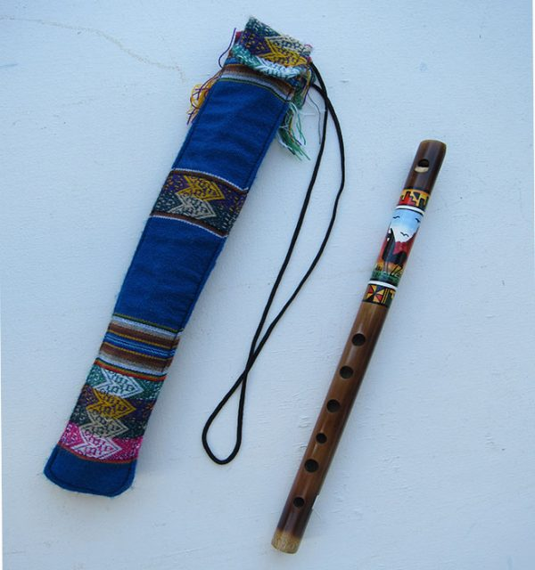 Huanca family makes this traditional flute