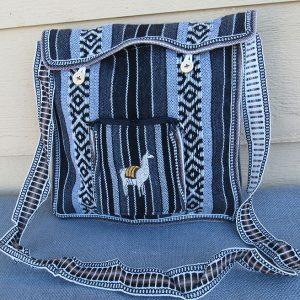 Andes tote travel bag, Peru, handmade. Peruvian purse made by Hermilinda Mestas