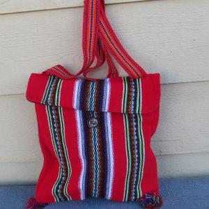 Andes tote travel bag, Peru, handmade Tote bag made by Mario Rojas