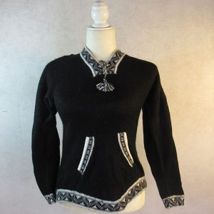 Black Andes sweater designed in Peru