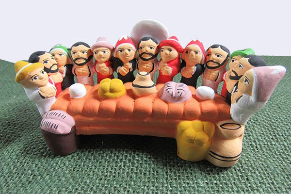 Made by Peruvian artisan of clay