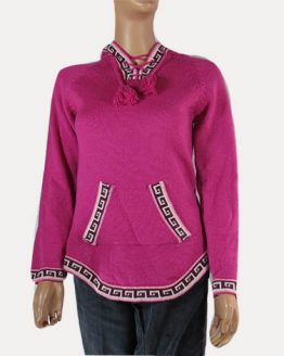 Alpaca wool pink sweater
