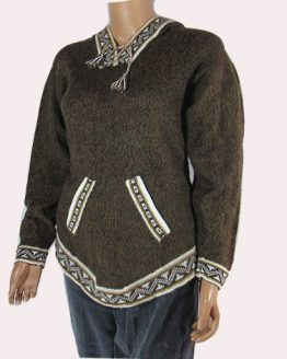 Natural alpaca wool Andes sweater