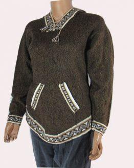 Natural alpaca wool Andes sweater