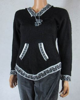 Peruvian artisan Mestas family make this sweater