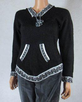 Peruvian artisan Mestas family make this sweater
