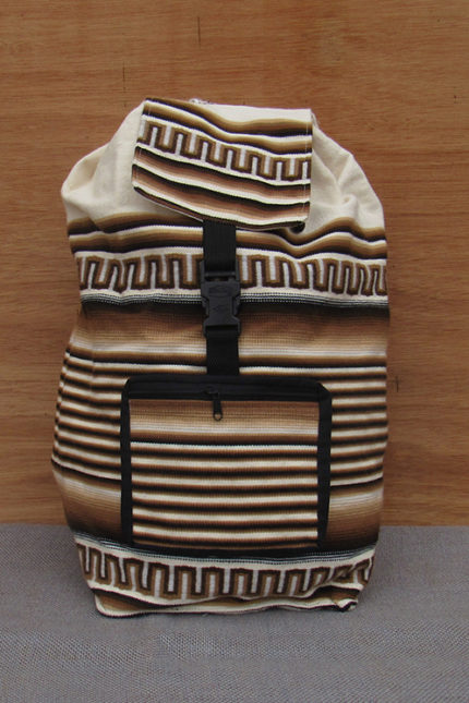 Handcrafted cotton cotton backpack
