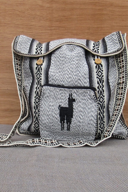 Peruvian light gray bag