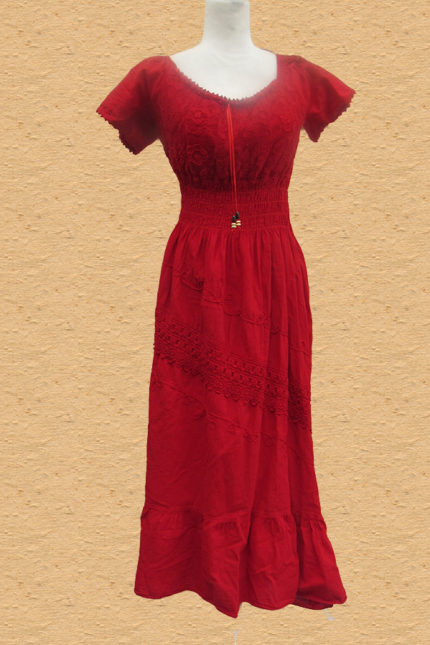 Peruvian handcrafted cotton dress