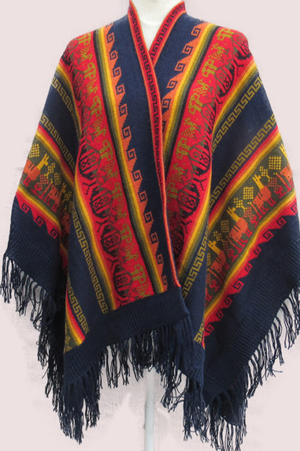 Alpaca cape designed by Peruvian artisan