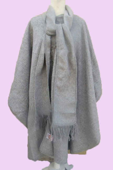 Light gray alpaca poncho
