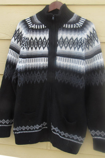 Men's alpaca cardigan sweater