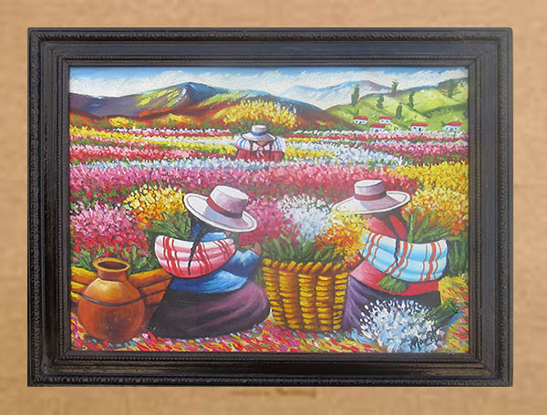 Peruvian oil paint frame
