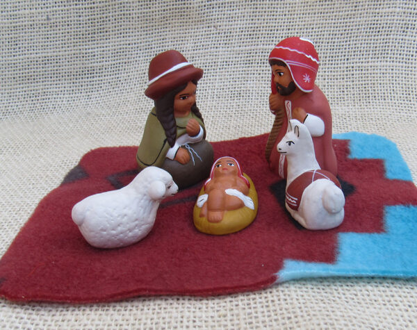 Nativity of clay handcrafted