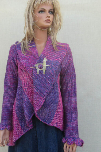 Pervian cardigan alpaca wool apparel