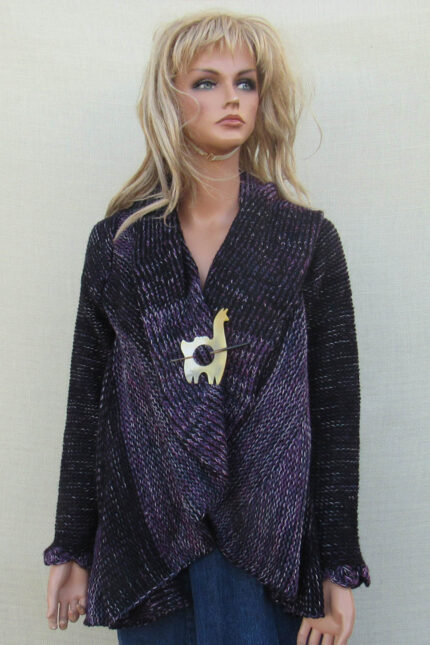 Purple alpaca sweater made in Peru